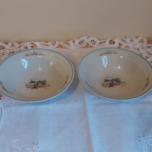 Vintage Set of 2 Japan Stoneware bowls